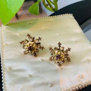 ♻️🌿Vintage | 1930s-1940s Clip Snowflake Earrings